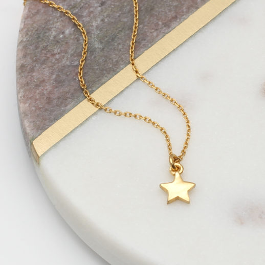 TinyGoldStarNecklace