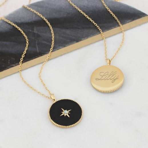 original_18ct-gold-and-onyx-beaded-edge-personalised-pendant-1
