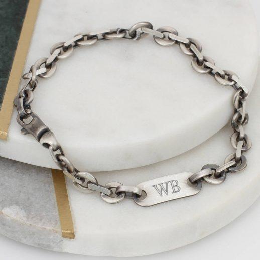 original_men-s-sterling-silver-personalised-circle-link-bracelet