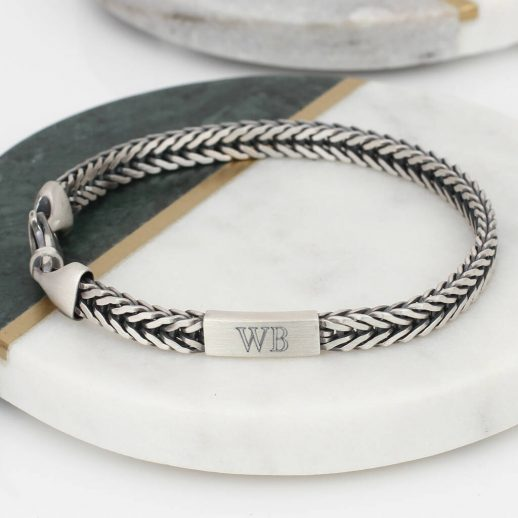 original_men-s-sterling-silver-personalised-herringbone-bracelet
