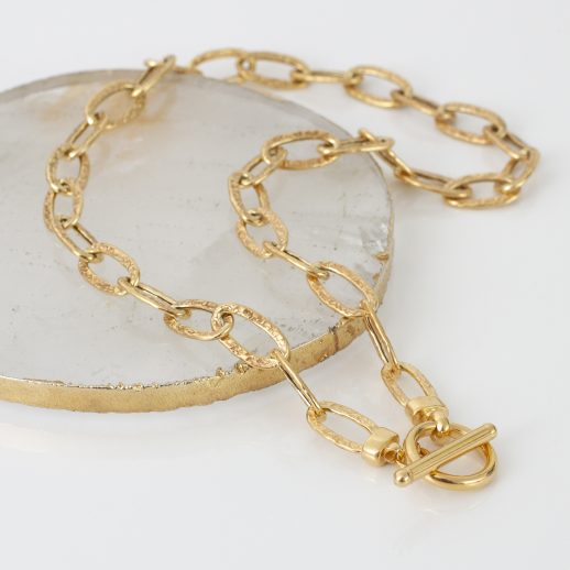 YGHammeredChainNecklace