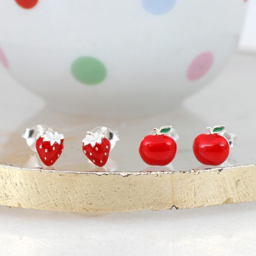 ApplesStrawberryStuds