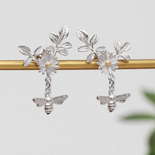 original_18ct-gold-and-sterling-silver-bee-and-daisy-earrings