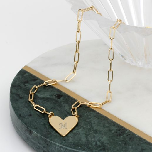 YGHeartandChainNecklace